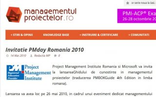 Conferinta PM Day Romania 2010