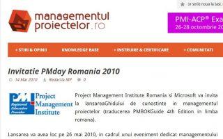 Conferinta PM Day Romania 2010
